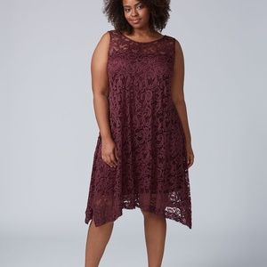 Sleeveless Lace Swing Dress